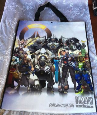 Comic Con Overwatch Xl Promo Bag Sdcc 2016 Exclusive Blizzard Gear=nice=