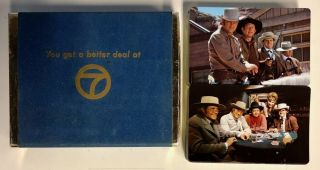 """Vintage 1970s Kgo Tv Channel 7 Abc Double Deck Of Playing Cards """" Showdown """""""