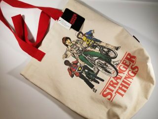 Loungefly Netflix Retro 80s Style Stranger Things Canvas Tote Bag Hhn 2019