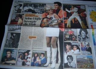 Elvis Presley 21 Pc German Clippings Full Pages