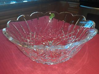 "Vintage Waterford Crystal "" Lismore "" 9 "" Salad / Centerpiece Bowl  "" Gift """