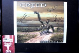 Creed Signed Human Clay 8x10 Photo Crew Pass