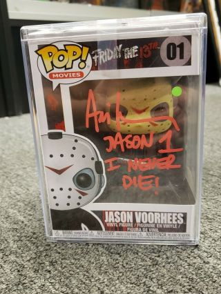 Ari Lehman Jason 1 Signed Funko Pop Jsa Certified Authentic Friday The 13th