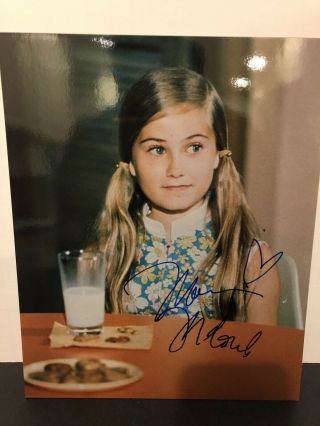 Maureen Mccormick Signed 8x10 Color Photo The Brady Bunch Autograph