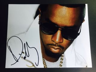 Puff Daddy Sean Combs Signed 11x14 Photo P Diddy Bad Boy Entertainment
