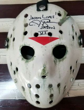 Cj Graham Autographed Custom Painted Jason Voorhees Mask Friday The 13th Part Vi