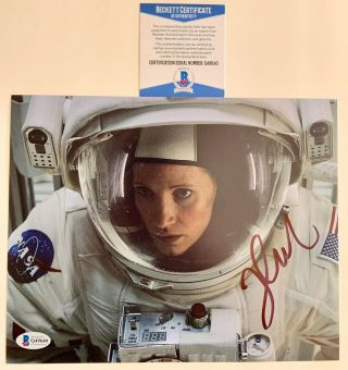 Jessica Chastain Autographed 8x10 Photo Signed The Martian,  X - Men W/ Beckett