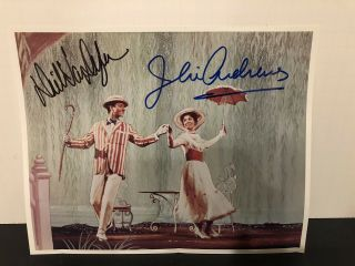 Signed Julie Andrews Dick Van Dyke Mary Poppins 8x10 Photo Some Bending To Photo