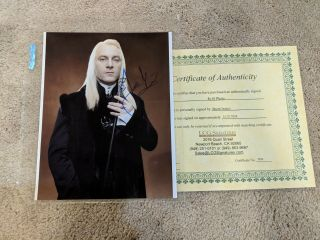Jason Isaacs Signed Harry Potter Lucius Malfoy 8x10 With Certificate