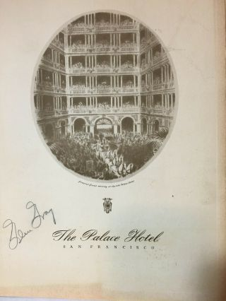 1941 Very Early Signed Autograph Glen Gray And His Orchestra At The Palace Hotel