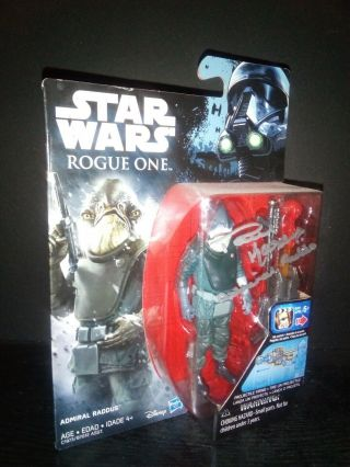 Star Wars Admiral Raddus Rogue One Autograph Paul Kasey Signed Figure Cheers