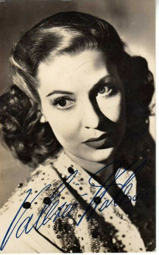 Valerie Hobson - Picture Hand Signed Rare
