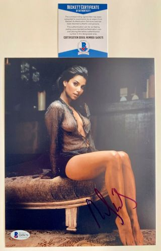 Sexy Roselyn Sanchez Autographed 8x10 Photo Grand Hotel Signed Beckett Feet