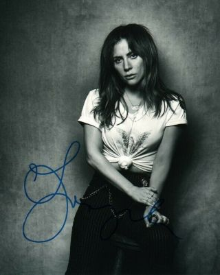 Lady Gaga Star Is Born Signed Autographed 8x10 Photo M086