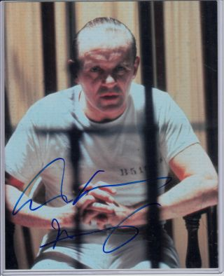 """Anthony Hopkins As Hannibal Lecter Autograph 8 """" X10 """" Photo Silence Of The Lambs"""