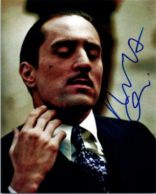 Robert Deniro Autographed 8x10 Photo Signed Picture,