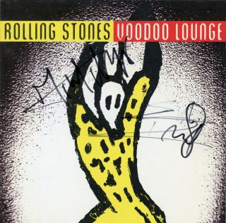 The Rolling Stones Mick Jagger & Keith Richards Signed Cd Voodoo Lounge
