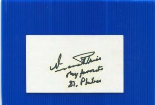 Vincent Price.  Autograph.  Hand Signed.  3 - 5 Inch.