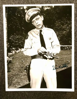 Don Knotts Set Of 2 Barney Fife Andy Griffith Show 8x10 Autographed Photos