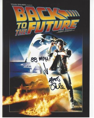 Back To The Future Writer Bob Gale Hand Signed 8x10 Photo D W/coa Screenwriter