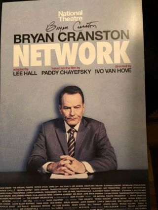 Poster From Network Signed By Bryan Cranston