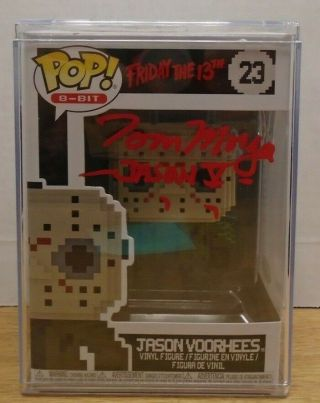 Tom Morga Autographed Jason Voorhees Friday The 13th Funko Pop Jsa 080719dbfp2