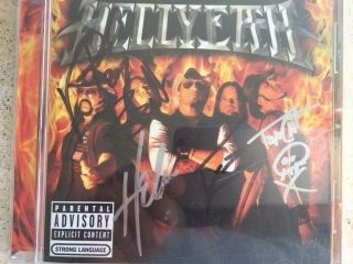 Hellyeah Signed Cd Booklet With Cd