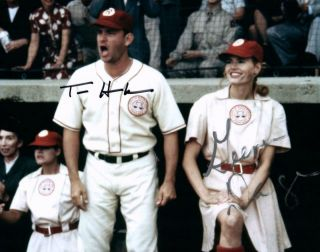 League Of Their Own Geena Davis Tom Hanks 8x10 Signed Photo Autographed Pic