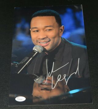John Legend - Signed 8x12 Glossy Color Photograph Jsa Cet