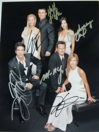 """"""" Friends """" Cast Signed By Six (6) - Aniston,  Cox,  Perry,  Leblanc,  Kudrow,  Etc."""