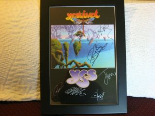 Yes - Yestival Tour Poster Autographed By The Whole Band