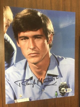 Randolph Mantooth Emergency 8x10 Signed Photo Bas Beckett Authentic Autograph