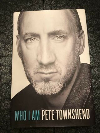 Signed The Who Pete Townshend Who I Am Book W/