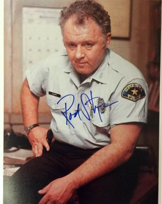In The Heat Of The Night: Rod Steiger Autographed 8x10 Movie Still.