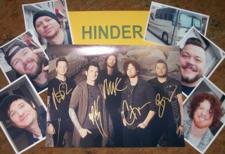 Hinder Autographed Photo & Photos - Real Collectible