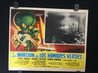 "1957 Invasion Of The Saucer Men Movie Mexican Lobby Card 14 "" X11 """