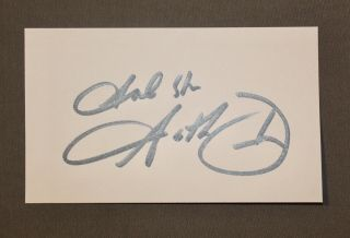 "Garth Brooks ""god Bless"" Autographed 3 X 5 Index Card"
