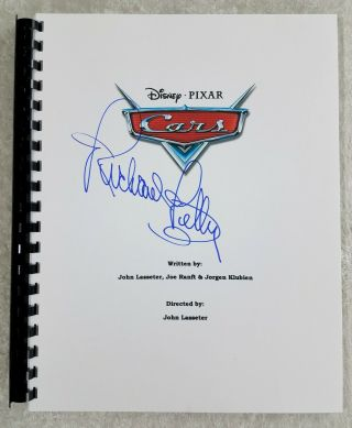 "Richard Petty "" The King "" Autograph Signed "" Cars "" Full Movie Script 2006 Film"