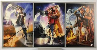 Exclusive Back To The Future Mini Triptych Print Jumbo Signature By Drew Struzan