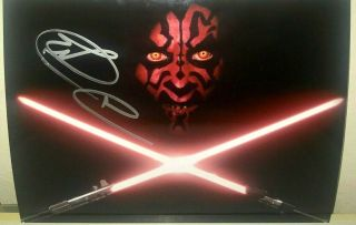 Ray Park Darth Maul Star Wars Actor Signed Autographed 8x10 Photo W/proof Rare