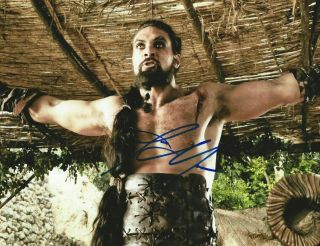 Photo Signed By Jason Momoa,  With,  8x10,  Games Of Thrones,  Khal Drogo