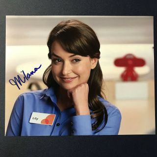 Milana Vayntrub Signed 8x10 Photo Sexy Autographed At&t Commercial Girl