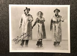 Gene Kelly 8x10 Singing In The Rain Autographed Photo