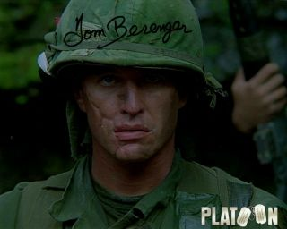 Tom Berenger Signed Autograph Platoon In Person 8x10 With