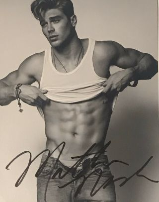 Matthew Noszka Signed Autographed Bxw 8x10 Shirtless Sexy Male Model