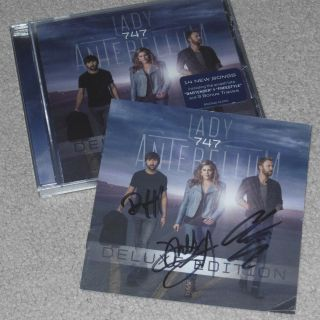 Lady Antebellum Signed 747 Deluxe Cd - Rare Autograph Charles Kelly Hillary Scott