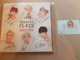 Teen Top Signed/autographed 4th Mini Album Class Addition With Chunji Photo Card