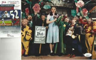 Wizard Of Oz Munchkin Meinhardt Raabe Color Autographed 8x10 Photo Jsa Certified