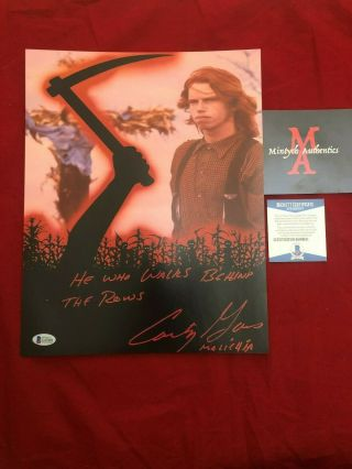 Courtney Gains Autographed Signed 11x14 Photo Children Of The Corn Beckett