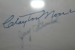 Clayton Moore And Jay Silverheels Hand Signed 3x5 Index Card.